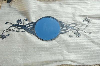 miroir metal design