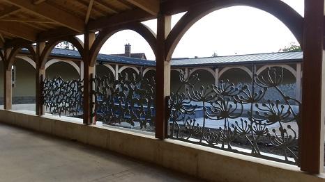 Brise vue metal barriere - Sculpture exterieure metal ...
