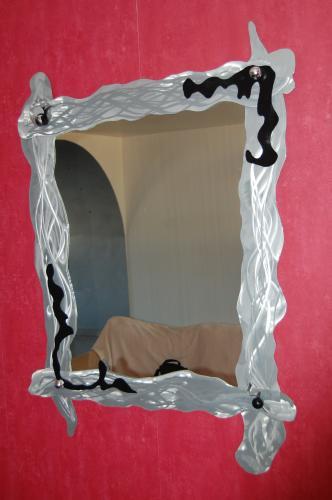 miroir design, miroir metal, miroir deco, miroi decoupe plasma