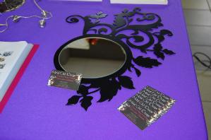 miroir design, miroir metal, miroir deco, miroir decoupe plasma